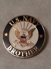 Us Navy Brother Pin 15/16 inch