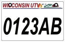Wisconsin UTV license Plate, WI UTV   *BUY IT NOW!* *FREE Shipping!!*