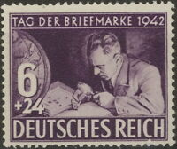 Stamp Germany Mi 811 Sc B201 1942 WWII 3rd Reich Collecting Album Philatelic MH