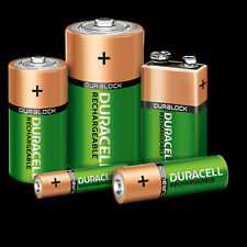 DURACELL ULTRA RECHARGABLE BATTERIES AA/AAA/9V SIZE MULTIPLE QTY 2500mAh 850 170