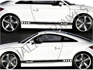 AUDI SIDE RACING STRIPES A3 A4 A5 TT GRAPHIC DECAL STICKERS RS38
