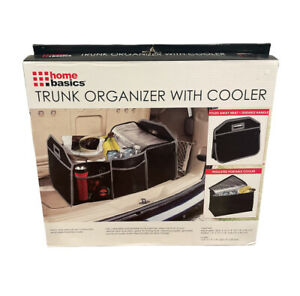 Home Basics NEW Black Foldable Trunk Organizer with insulated Cooler Gift