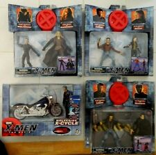3 DIFF NIP ORIG X MEN MOVIE 2 PACKs + X-CYCLE/WOLVERINE/ROGUE/MAGNETO/TOY BIZ