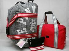 NWT VICTORIAS SECRET PINK 3PC TRAVEL SET ROLLING DUFFLE, CARRY ON & COSMETIC BAG