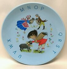 "Vtg. James Kent Old Foley England 7"" BAA BAA BLACK SHEEP children's BLUE plate"
