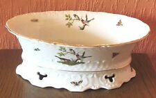 Seltmann Weiden Porcelain Embossed and Pierced Oval Serving Dish.