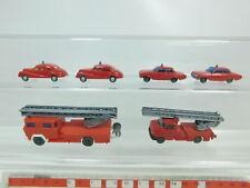 bk45-0,5 #6x WIKING H0 / 1:87 POMPIER / FW : BMW 501 + OPEL + magirus deutz etc
