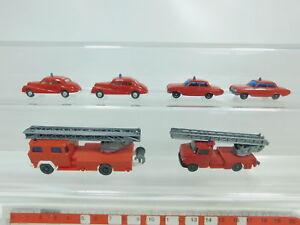 BK45-0,5# 6x Wiking H0/1:87 Feuerwehr/FW: BMW 501 + Opel + Magirus Deutz etc TOP