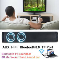 Bluetooth 5.0 Wireless Stereo Surround Soundbar Theater Speaker System Subwoofer