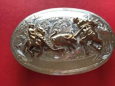 Sterling Silver Western Cowboy Belt  Buckle
