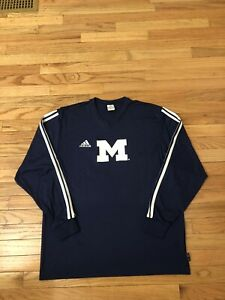 Michigan Wolverines NCAA Vintage 2003 Adidas Climalite Men's Soccer Warm Up Top