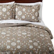 Threshold 3 Piece Comforter Set Persian Medallion Grey Green King New