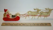 Vintage Rare Celluloid Santa, Reindeer and Sleigh Made in Japan