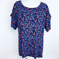 Verve Ami Floral Multi Women Blouse. Size 1X. New With Tags