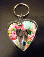 Jack Russell Terrier Gift Keyring Key Ring heart Birthday Gift Mothers Day Gift