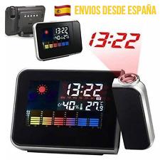 Reloj Despertador Proyector Hora Techo Pared Estación Termómetro