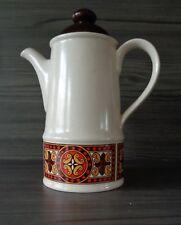 Vintage 1970's Sadler Celtic Retro Pattern Stoneware Coffee Pot - Cream Brown