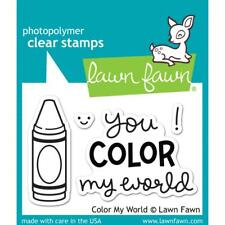 Lawn Fawn Photo-polymer Clear Stamp Set Color My World Crayons