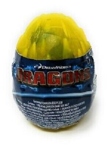 """DreamWorks How to Train Your Dragon CUTTER 3"""" Inch Plush Yellow Egg **NEW**"""