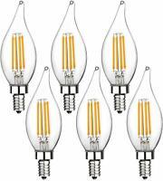 Boncoo E12 Candelabra Bulb Dimmable LED Chandelier Light Bulbs 6W 2700K 6 Pack