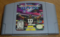 AUTHENTIC Nintendo 64 N64 NFL BLITZ 1 Cart Only Tested Works 1998 Original