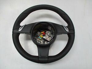 Porsche 991 Pdk Steering Wheel Sports Nappa Leather Rocker Switches Black