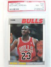 1987 Fleer #59 Michael Jordan Psa 8 Nm/Mt. Bulls ! Check out my other item!