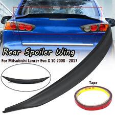 Car Rear Trunk Lip Spoiler Wing Black For Mitsubishi Lancer Evo X 10 2008-2017 ~