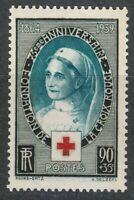 France 1939 MNH Mi 440 Sc B81 Red Cross . Nurse. Medical .WW2 **