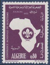 ALGERIE N°574** Scoutisme, scouts, carte Afrique, 1973 Algeria scouting MNH
