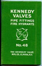 KENNEDY Valve Catalog #48 1926 ASBESTOS Packing Pipe Fittings Fire Hydrant