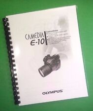 LASER PRINTED Olympus E-10 Camera 203 Page Owners Manual Guide
