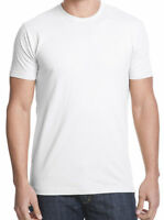 plain white tee t shirt short sleeve  great quality size L MADE IN USA 100%