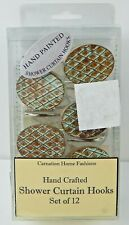 Carnation Home Fashions Resin Shower Curtain Hooks Set of 12 Imperial Bronze
