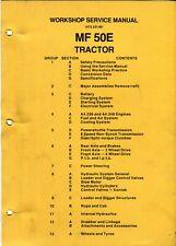 Massey Ferguson MF 50E tractor loader backhoe workshop manual