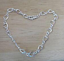 """8"""" Sterling Silver 5gram Figure 8 Link 5.5mm wide Traditional Charm Bracelet"""