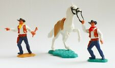 "TIMPO small ""Wild West"" set, 2 cowboys and horse"