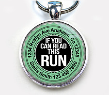 If You Can Read This Run aqua Custom funny humor 11 colors pet dog cat tag
