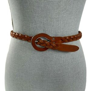 PAUL & JOE SISTER Sz 70 XS 26-28 Brown Braided Woven Leather Belt Italian Made