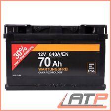 ENVA 70Ah 640A 12V AUTOBATTERIE STARTERBATTERIE PKW-BATTERIE 32656337