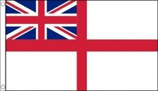 WHITE ENSIGN FLAG 5' x 3' British Royal Navy Naval Flags