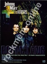 Johnny Marr & The Healers Smiths Boomslang LP Advert
