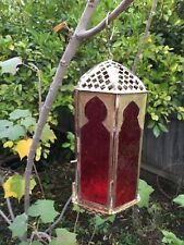 tea light candle lanterns traditional handmade in Indian in metal and glass