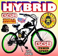 "COMPLETE DIY 66cc/80cc 2-STROKE MOTORIZED BICYCLE KIT WITH 26"" BIKE HYBRID"