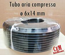 Tubo in gomma per aria compressa 6x14 mm pressione 20 bar al metro compressore