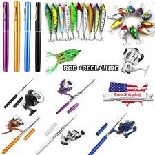 Mini Aluminum Portable Pen Shape Fishing Fish Rod Pole + Fish Reel + Fish Lures