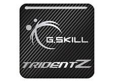 "G.Skill TridentZ 1""x1"" Chrome Domed Case Badge / Sticker Logo"