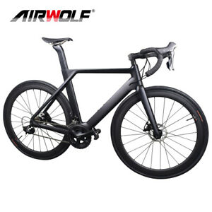 R8020 T1000 Aero Carbon Fiber Complete Disc Bike Hydraulic Brake Road Bicycle