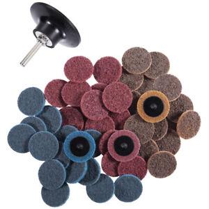 "46PCS Roloc Sanding Disc 2 Inch Rust&Paint Removal Roloc Discs with 1/4"" Holder"