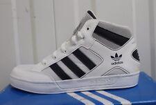 Niño, s Adidas Originals Hard Court Hi Blanco Entrenadores V21145 Nuevo Y En Caja